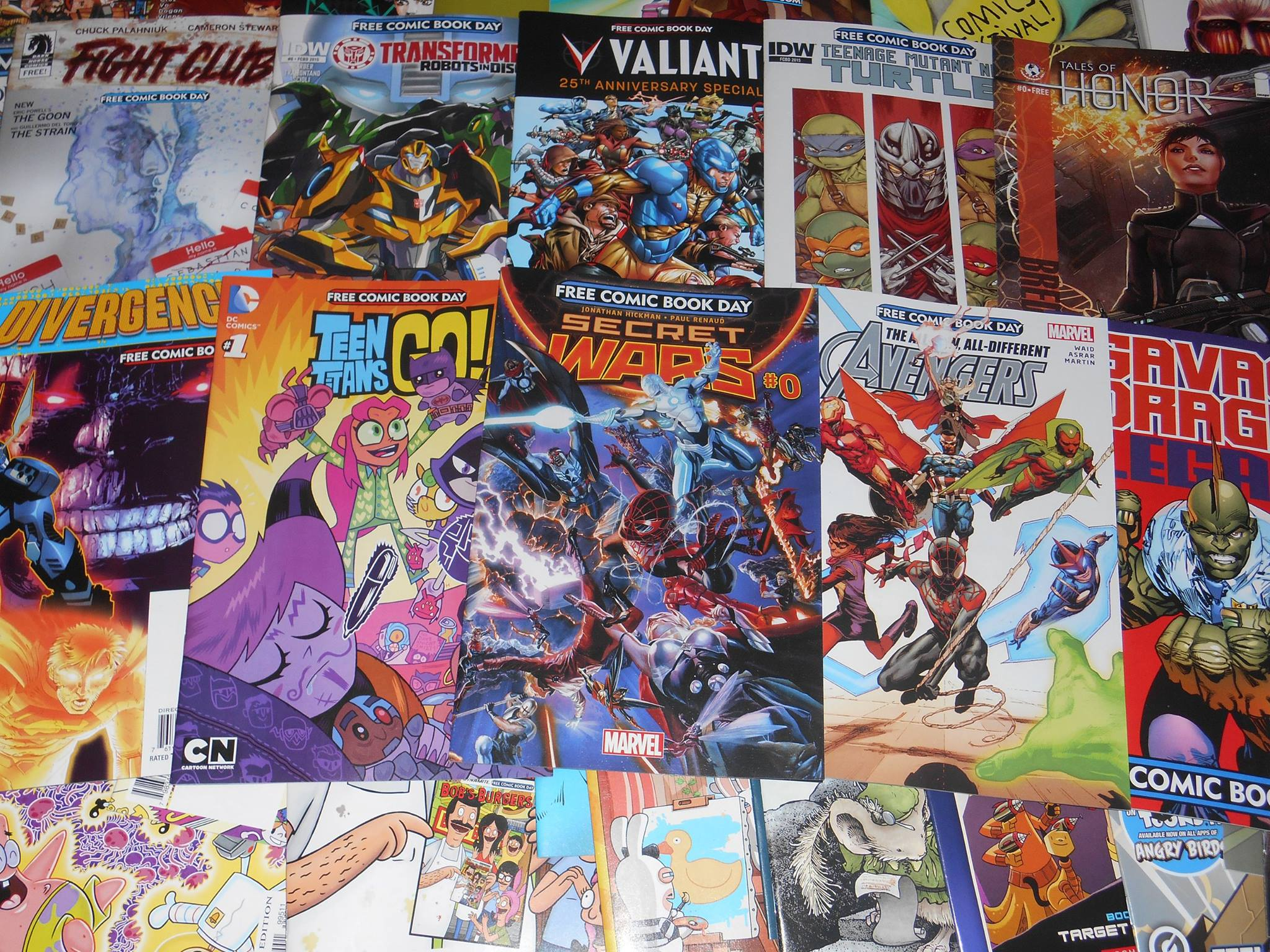 free comic book day - valiant - tmnt - transformers