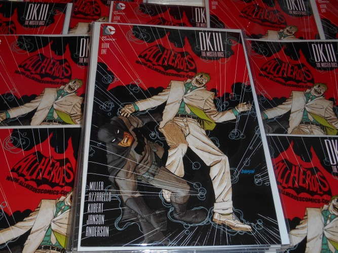 The Dark Knight III # 1 All Heroes Comics logo variant !!!