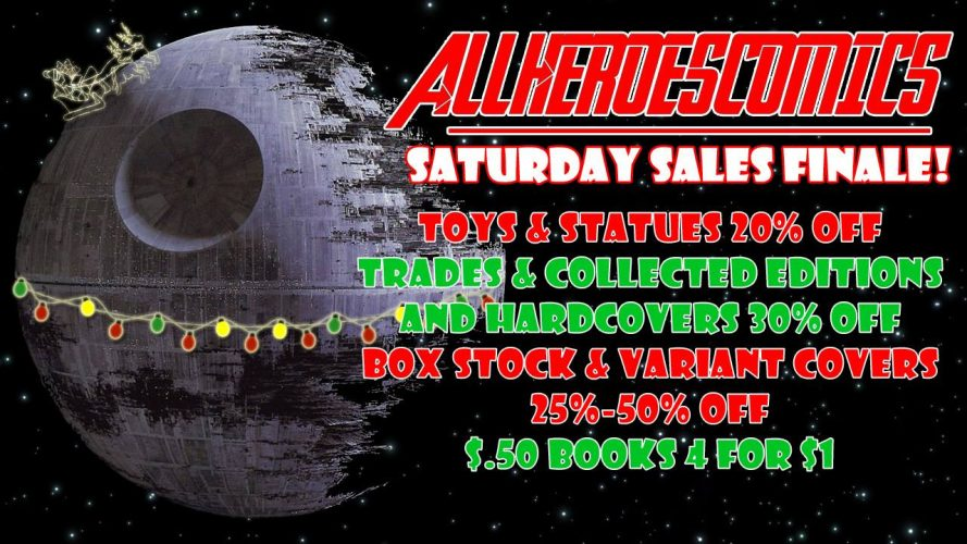 All Heroes Comics Saturday Sales for December 2016 !!!