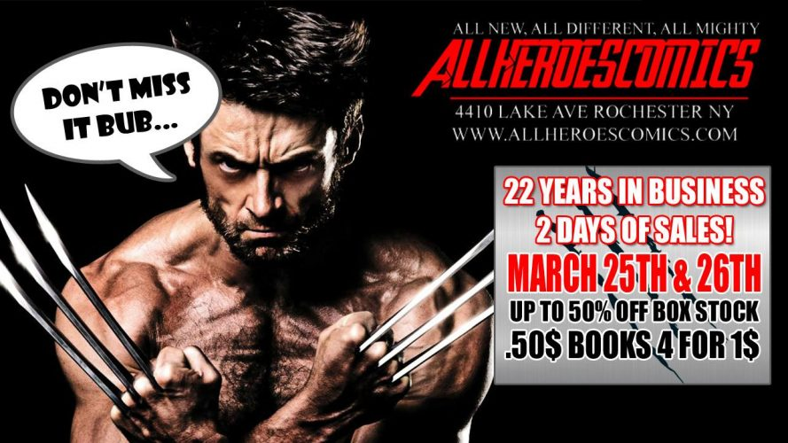 the All Heroes Comics Year 22 Sale !!! March Edition !!